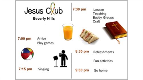 Jesus Club Beverly Hills - Timetable 2021