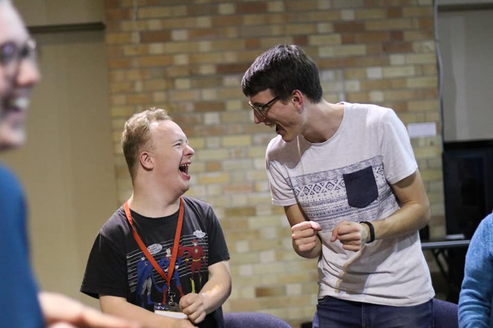 Jesus Club Dapto member and leader having a good laugh together